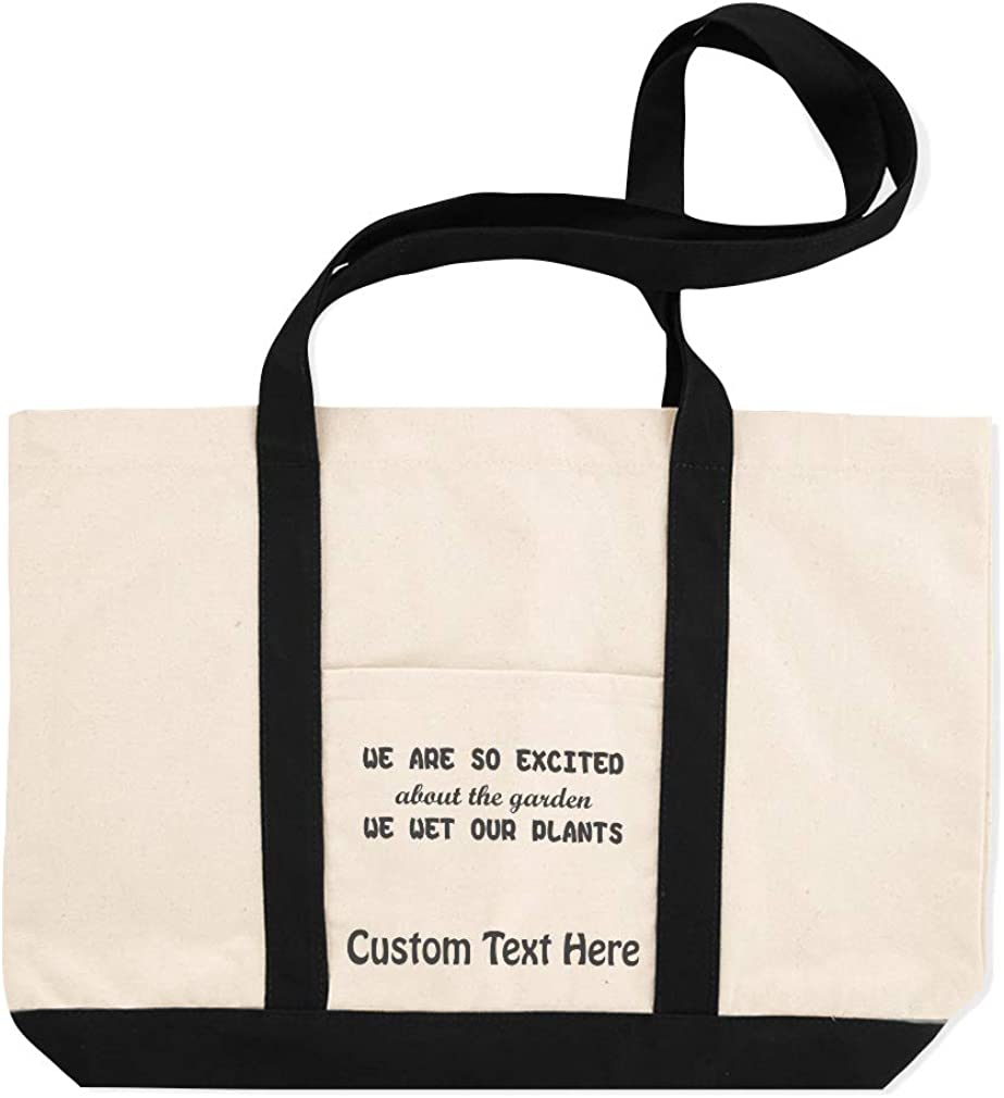 Canvas Shopping Tote Bag WeRe So Excited We Wet Our Plants Botanical /& Flowers Beach for Women