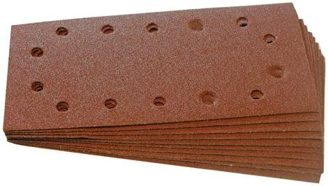 Sanding Machine Qty 10-115mm X 230mm 120 Grit Punched Sanding Sheets