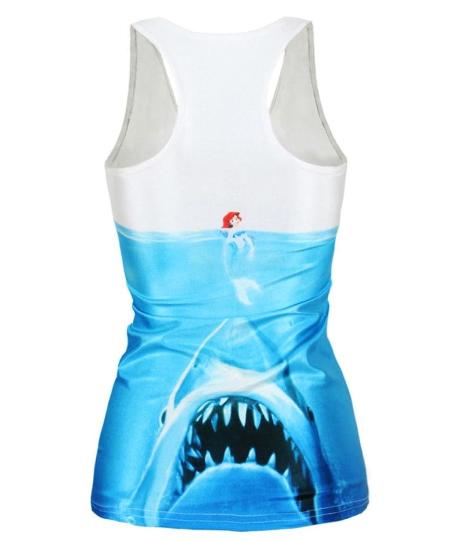 Ensasa Women's Fashion Shark & Ariel Camisole Halter Top ...