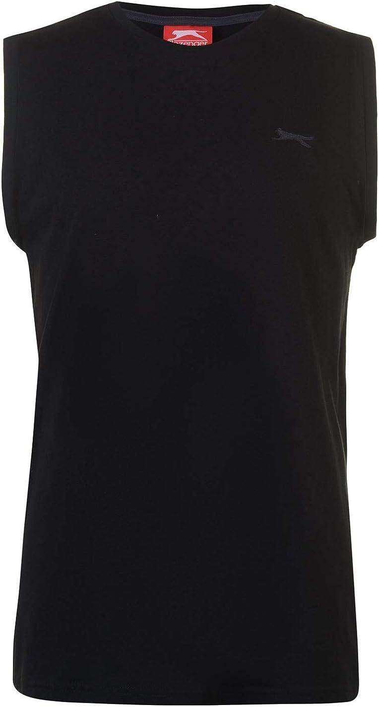 Slazenger Mens Sleeveless T-Shirt Round Neck Vest Top Clothes Clothing