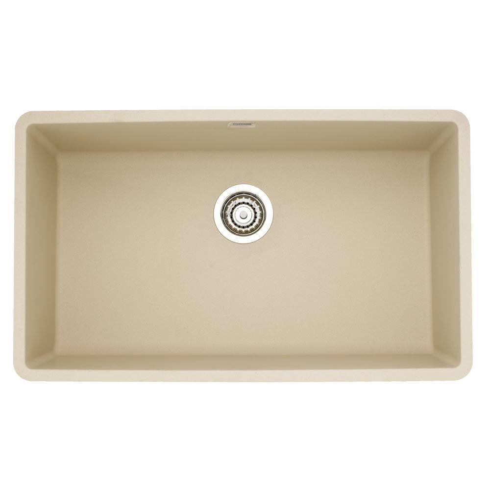Blanco 441299 Precis Super Single Bowl Sink, Biscotti