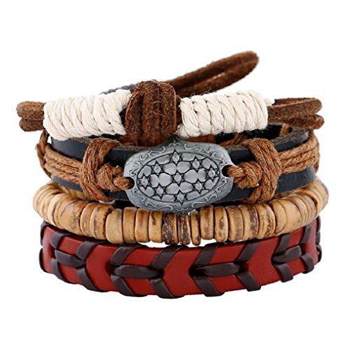 Fariishta Jewelry Woven Coconut Shell Hemp Simple Retro Leather - Bag Horse Brand Logo Korean With