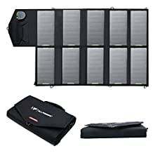 ALLPOWERS 60W 18V Foldable Sunpower Solar Panel Charger with iSolar™ Technology for Laptop, Tablet, ipad, ipod, Smartphone, iphone, Samsung, Blackberry, Acer, Asus, Dell, HP, Toshiba, Lenovo Notebooks, Laptops and Many Other Digital Devices