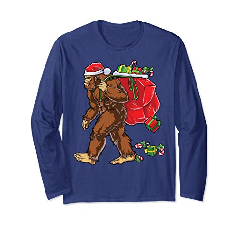 Ranger Costume Park National (Unisex Bigfoot Santa T Shirt Hat Carrying Christmas Bag Sasquatch Medium)