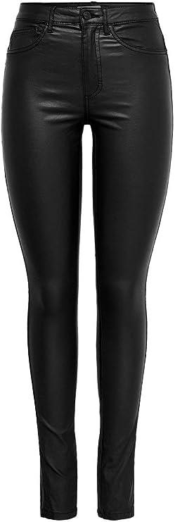 TALLA W30/L34 (Talla del fabricante: Large). Only Onlroyal HW SK Rock Coated PIM Noos Vaqueros Skinny para Mujer