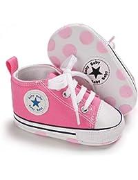 Pretty Originals Zapatos de bebé blanco 4 a 12 meses S2 tamaño de 16 a 19