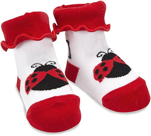 (Izzy & Owie One Size Fits All Baby Red Ladybug Socks)