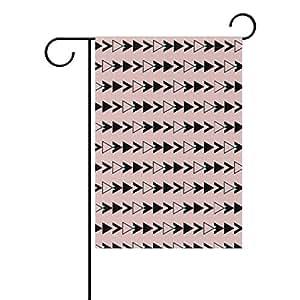 bennigiry Seamless flecha patrón poliéster banderines de jardín 12X 18inch, bandera de Jardín de temporada para al aire libre bandera decoración para boda, Multicolor, 28x40(in)