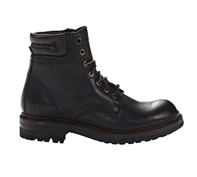 Frye Men's Freemont Lace-Up Work Boot Round Toe Black 8.5 D(M)