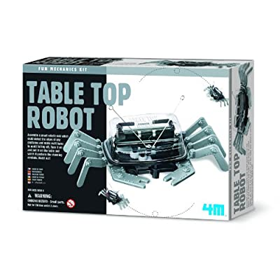 4M 5576 Table Top Robot - DIY Robotics Stem Toys, Engineering Edge Detector Gift for Kids & Teens, Boys & Girls (Packaging May Vary): Toys & Games