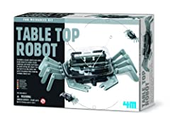 Learn about the wonder of robotics with the 4M Table Top Robot. The Table Top Robot is a hands-on science kit that teaches the basics of robotics by constructing a working robot crab. When activated, the robot crab scuttles under its own powe...