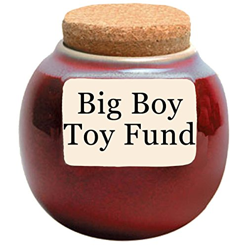 Guy Gifts; Big Boy Toy Fund Money Holder; Coin Bank, Jar With Lid By Tumbleweed
