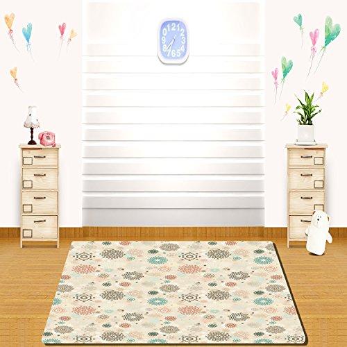 (HAIXIA rugs Winter Retro Style Christmas Pattern with Various Gentle Snowflake Motifs Vintage Pastel)
