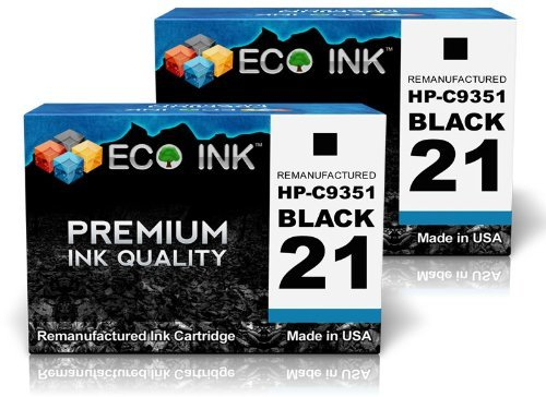 ECO INK Compatible / Remanufactured for HP 21 C9351AN (2 ...