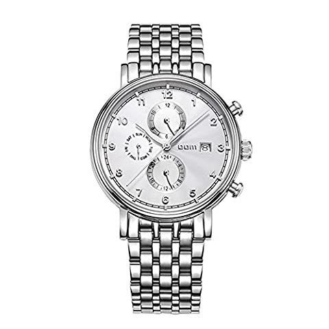 Sheli Self Winding Automatic Mechanic Jewelry Clock Silver Tone Bracelet Watch with Day Date for Man