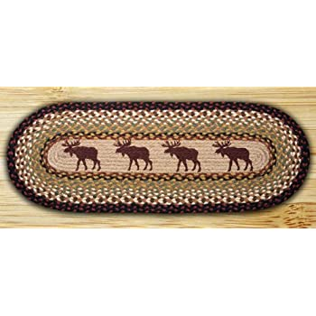 Earth Rugs 68 019 Oval Table Runner, 13 Inch By 36 Inch