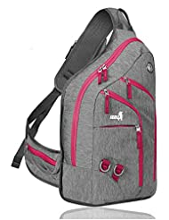 Plus Oversized Sling Backpack for Men Women, Double Layers Rope Strap Bag 28L
