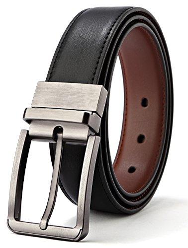 Alderman Men Belt Genuine Leather Reversible Belt for Men 1.25