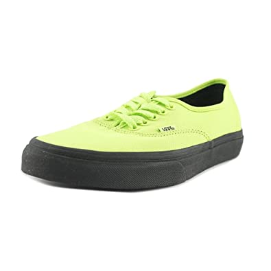 908a30e7b7 Vans Unisex Authentic (Black Outsole) Neon Green and Black Sneakers - 7  UK India (40.5 EU)  Buy Online at Low Prices in India - Amazon.in