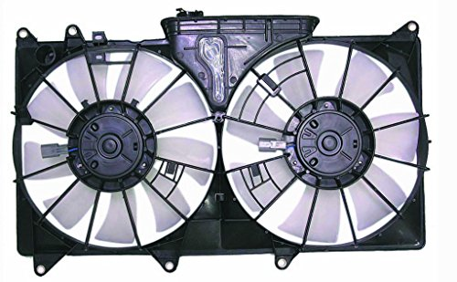 Dual Radiator and Condenser Fan Assembly - Pacific Best Inc For/Fit LX3115108 01-05 Lexus IS 300