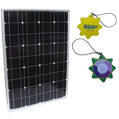HQRP 50W Mono-crystalline Solar Panel 50 Watt 12 Volt in Anodized Aluminum Frame 10 Years Limited Power Warranty from HQRP