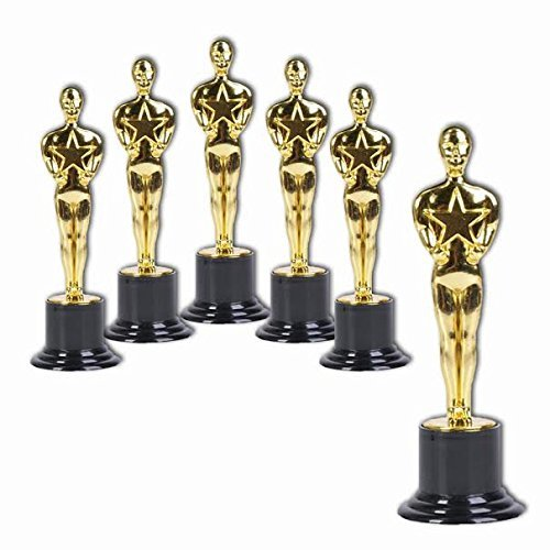 6' Oscar Award Trophies (6-Pack) by M & M Products Online
