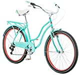 Schwinn 26' Ladies Perla 7 Speed Cruiser Bike, 26-Inch, Blue