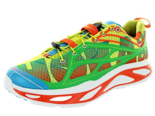 Hoka One One Men's Huaka Orange/Green/Yellow Running Sneaker Shoe - 11.5 D(M) US