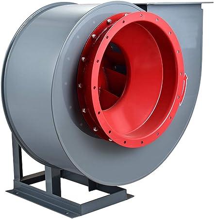 Ventilador centrífugo, motor de cobre puro con carcasa engrosada, ventilador de bajo ruido, ventilación de almacén, transporte de granos, ventilación de plantas, taller, maquinaria de plástico: Amazon.es: Hogar
