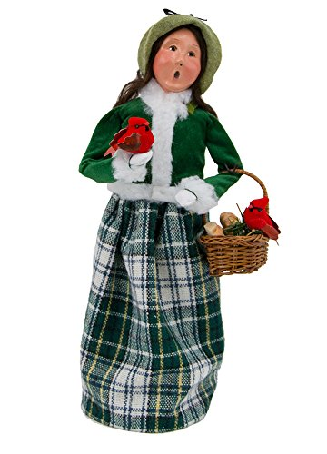 Byers' Choice Family with Cardinals Woman Caroler Figurine #111W from The Specialty Families Collection