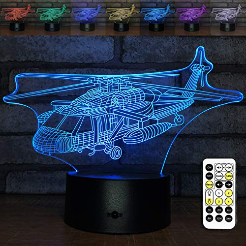 YeeSeeJee Airplane Toys,Baby Boy or Girl Gifts Night Lights for Kids with Timing Remote Control Adjustable 7 Colors Helicopter Toy Kids Toys Age 1 4 5 6 Year Old Boy or Girl Gifts(Airplane)