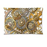Steampunk Mechanical Pillow Case Cushion Case Cover Pillowcase Customize Gift Xmas Decor 20''x30'' Two Sides