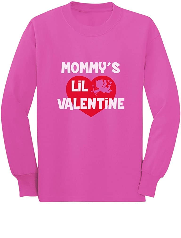 Mommy's Lil Valentine - Valentine's Day Long Sleeve Kids Boys Girls T-Shirt GM03tMgCm9