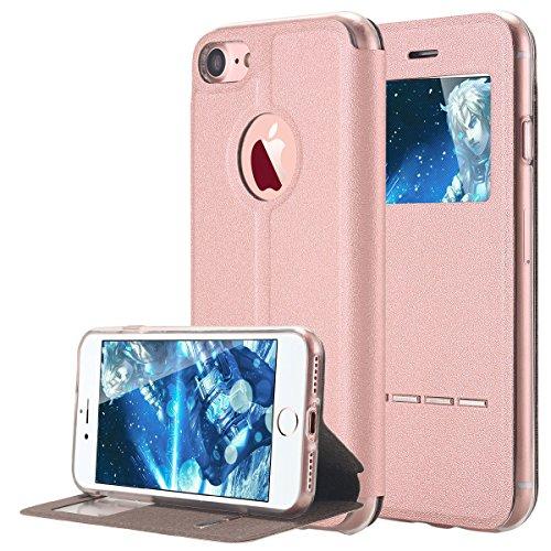 iPhone 7 Case, LONTECT Slim Thin View Window