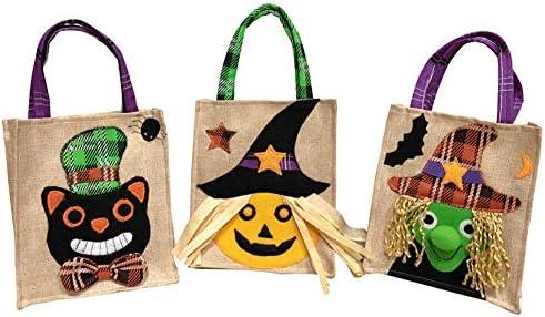 Amazon.com: Juego de 3 bolsas para Halloween, no tejidas, de ...
