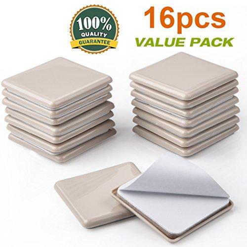 16 Pack Self-Stick Furniture Sliders 2-1/2
