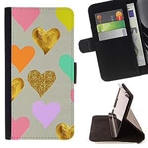 Momo Phone Case / Flip Funda de Cuero Case Cover - Corazones rosados ??del trullo Amor lindo - Samsung Galaxy A5 ( A5000 ) 2014 Version