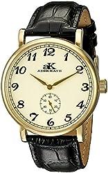 Adee Kaye Men's AK9061N-MG/G Vintage Mechanical Analog Display Mechanical Hand Wind Black Watch