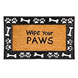 Evergreen Flag 2RM428 Wipe Your Paws Framed Estate Coir Mat, Multi-Colored