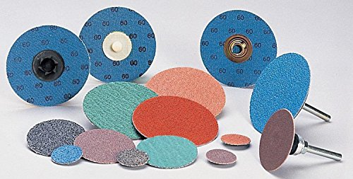 Coated Finishing Disc - 3 in Disc Dia, Aluminum Oxide, 120 Grit (46 Disk)