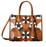 MICHAEL Michael Kors Mercer Large Floral Patchwork Convertible Leather Tote (Acorn)