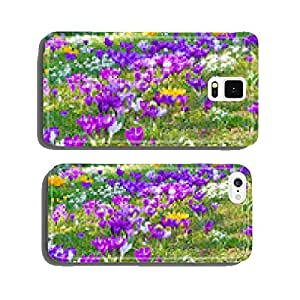 Crocuses and snowdrops in spring cell phone cover case Samsung S5