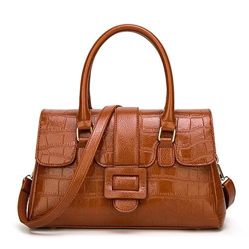 Brown Bag Tote Crocodile Ladies Bag Female Shoulder Pattern Vintage Bag Fashion Messenger Large Capacity TBnqOqH