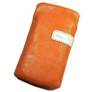 Funda de piel Para Play naranja L para Alcatel OT-985