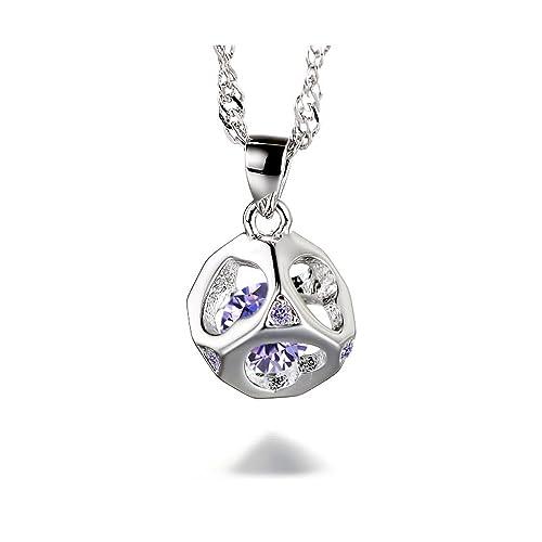 CJbrother Kette Damen 925 Sterling Silber Zirkonia Halskette  Amazon.de   Schmuck e546ae4d15