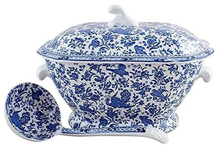 Burleigh Blue Calico Tureen Pottery & Glass