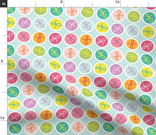 Spoonflower Tasty Fabric - Truffles Delicious Gooey Pastel Colors Macaroons Treats Print on Fabric by The Yard - Minky for Sewing Baby Blankets Quilt Backing Plush Toys