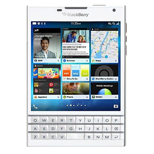 Blackberry Passport SQW100-1 Unlocked GSM Phone w/ 3-Row Keyboard - White