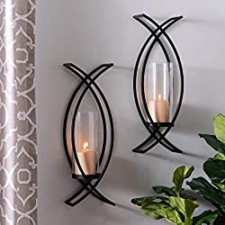 hm Set of Two Metal Wall Sconce Home Decor
