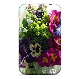 Hard Plastic Galaxy S4 Case Back Cover,hot Mother S Day Beautiful Flower Bunch Of Flowers Case At Perfect Diy